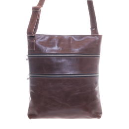 cc804a3e69f Genuine Brown Cow Leather Crossbody-Bag Negasi - Fair Trade from Ethiopia  129,00 €