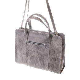 Gundara - fair grey-scratch leather bag from Ethiopia - fairchain and handmade