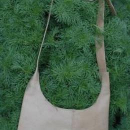 Wüstenmond - Gundara - aus Afghanistan - handgemacht - Schultertasche aus Rhabarberleder