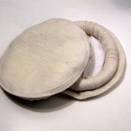 Pakol - weiß-meliert - fair-gehandelt aus Pakistan - traditionelle Kopfbedeckung