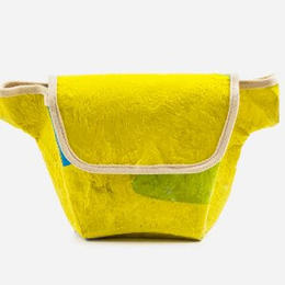 Up-fuse - upcycling fanny pack - from recycled plastic bags & organic cotton - vegan, fair, eco