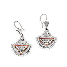 nice silver and copper earrings from Niger
