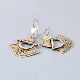 Silver earrings - handmade by a Tuareg tribe in Niger - fine handwork - Gundara