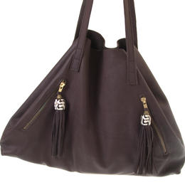 Nicola leather bag with zipped outside pockets