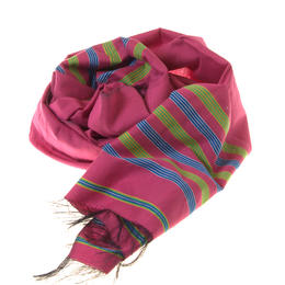 Pink Colour Handmade Silk-Cotton Scarf