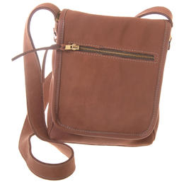 fair trade leather bag - toffee colour