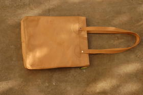 Shopper Sofia - top view - real leather - from Afghanistan - Gundara