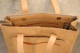 Shopping Bag Sofia - elegant handbag - real leather - top view - Gundara