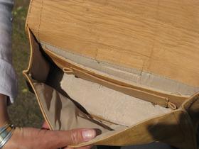 Fräulein 50er - Henkeltasche aus Naturleder - gemacht in Afghanistan