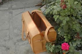 Gundara - Reisetasche Medium Klassik - Leder-Reisetasche - Ansicht von oben