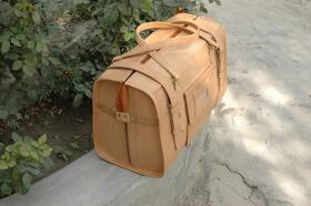 Gundara - Reisetasche Medium Klassik - Leder-Reisetasche - Seitenansicht