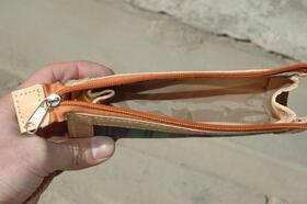 Gundara - accessoire cuir - Karina - trousse - fait main en Afghanistan