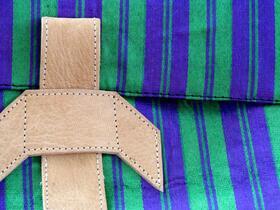 Gundara - Chopan Laptop Bag - leather and material - messenger bag