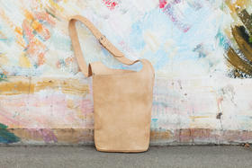 Gundara - Summer Time - bag with a little wrap - natural genuine leather