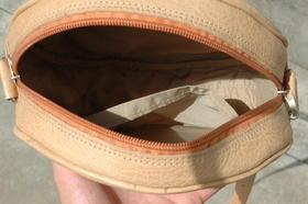 Gundara - Kolola - petit sac en cuir naturel - intérieur doublé
