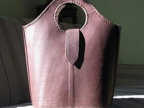 Shopper Schoki - dunkelbraune Leder-Einkaufstasche - Gundara