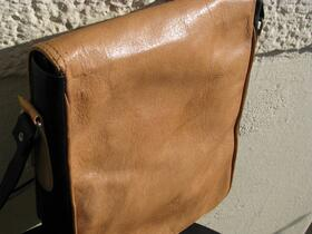 Gundara - Chess - Leather bag - genuine leather - funky pattern - Afghanistan