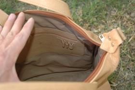 Gundara - Happy Laura - leather handbag - inside - genuine leather
