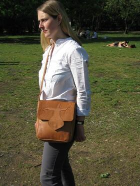 Gundara - Sufi - handmade leather bag - genuine leather - from Afghanistan
