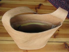 Gundara - Summer Time - inside - handmade leather bag - genuine leather