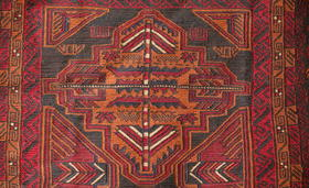 Herati Adraskani Belutsch-Teppich Musterdetail - Gundara