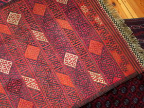 Kleiner gewebter Susani-Teppich - Detailansicht - Gundara - handgemacht in Afghanistan