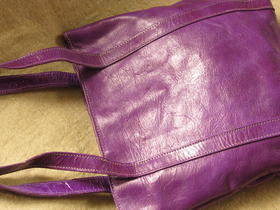 Missy Simple Africa - genuine leather - shopping bag - pruple - Burkina Faso