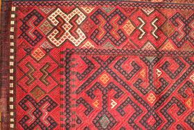 Gundara - Detailansicht - hanegewebt und handbestickt in Afghanistan - von Frauen gemacht