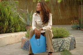 Blue leather handbag - Gundara