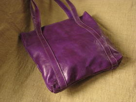 Missy Simple Africa - pruple leather - Burkina Faso - funky - handmade