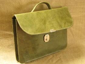 Gundara - Echtleder - grüne Brieftasche - aus Burkina Faso - handgemacht von Behinderten