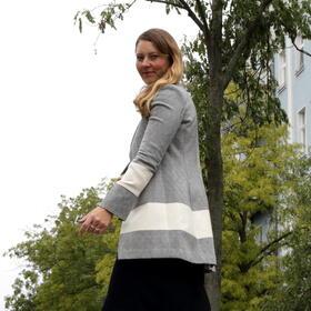 Gundara - Jacke - lang - aus Hammamtuch - chic und cool