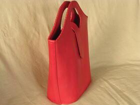 Gundara - Echtleder-Shopper Himbeere  - pink - feines Schafsleder - Afghanistan