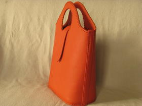 shopping bag - real leather - made in Afghanistan - fair trade