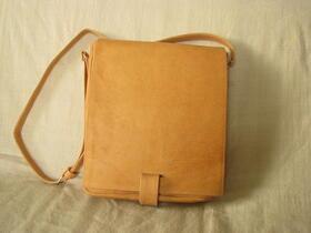 Gundara - messenger bag - genuine leather - unisex - from Afghanistan - fair trade