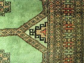 Jaldar-Teppich-Detail - - handgeknüpft - aus Pakistan - 100% Wolle