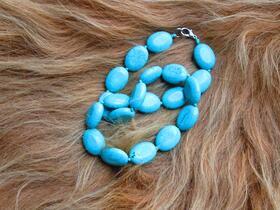 wunderschöne Halskette aus echten Türkisen - von der Seidenstraße - Tadschikistan