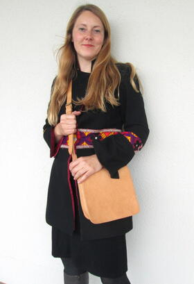 Small evening bag - Gundara - naturall tanned leather - fair trade - Afghanistan