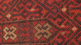 Olam tribe small suzani - hand stitiched rug
