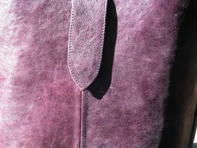 Leder-Einkaufstasche in lila - Gundara