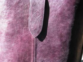 Leather Shopping Bag in Purple - Gundara