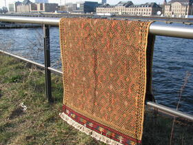 Afghan Yellow Suzani Rug by the spree - Gundara