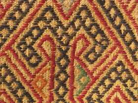 Afghan Yellow Suzani Rug embroidery detail- Gundara