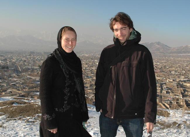 Gunda und Jean in Kabul, Afghanistan