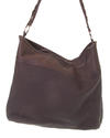 Carla chocolate colour leather bag