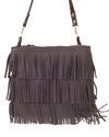 Fringes - Brown leather bag