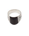 Silver Ring With Recycled Ebony Insert