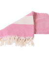 Pink hammam towel with diamond pattern